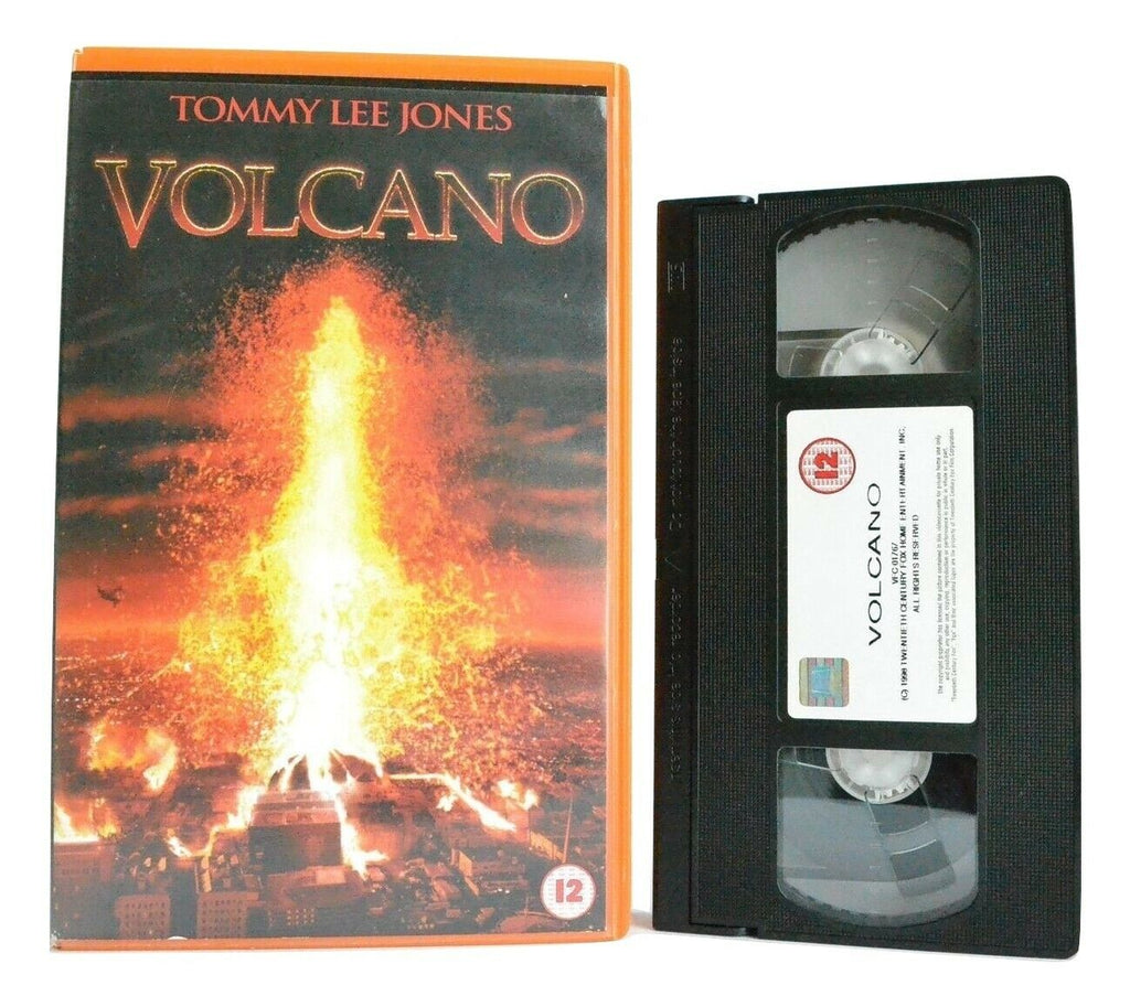 Volcano: Action/Drama (1997) - Large Box - Ex-Rental - Tommy Lee Jones - Pal VHS