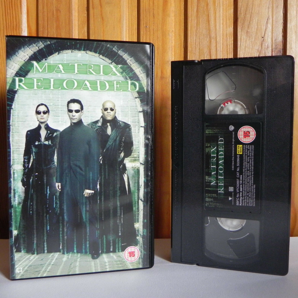 MATRIX: Reloaded - Wachowski - Marxism (2003) -Keanu Reeves- Action Video - VHS