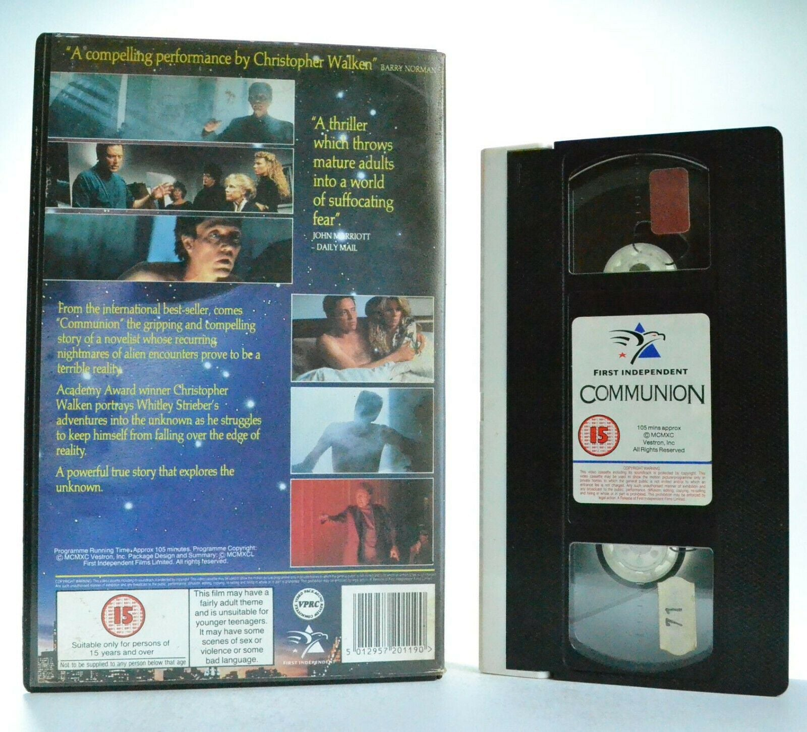 Communion - Christopher Walken - Greys - Alien SCI-FI Thriller - Large Box VHS