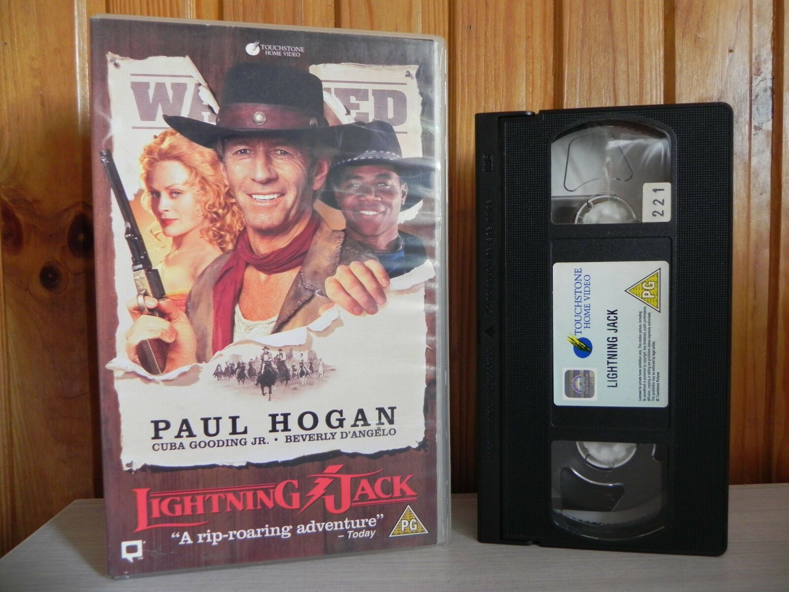 Lightening Jack: Paul Hogan / Cuba Gooding JR - Large Box - Western - Pal VHS