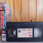 Double Impact - Van Damme - Martial Arts - Action - Columbia VHS - Pal - Video
