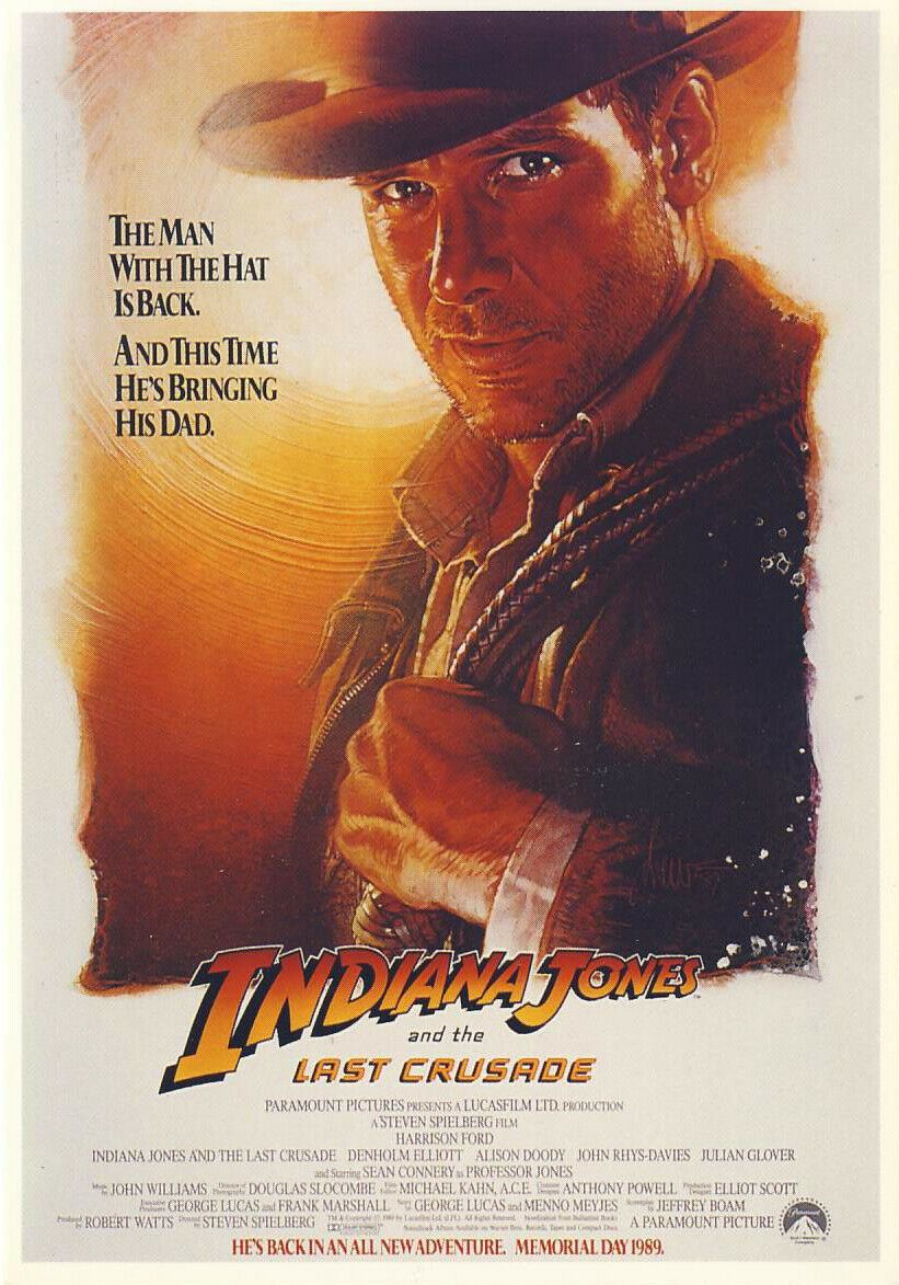 Indiana Jones And The Last Crusade: Action/Adventure (1989) - Large Box - Pal VHS