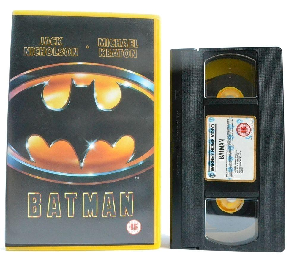 Batman: Large Box - Jack Nicholson - Michael Keaton - (1989) Action - VHS