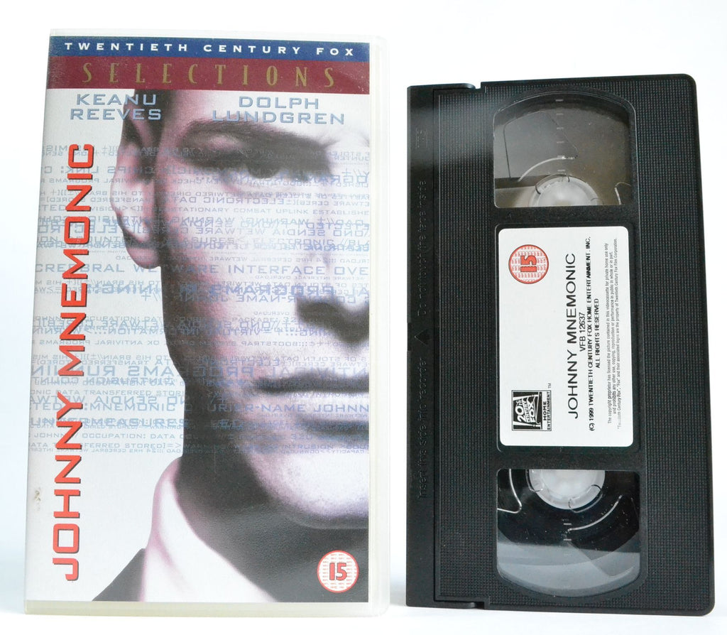 Johnny Mnemonic: [Keanu Reeves & Dolph Lundgren] Sci-Fi - Futurism - VHS