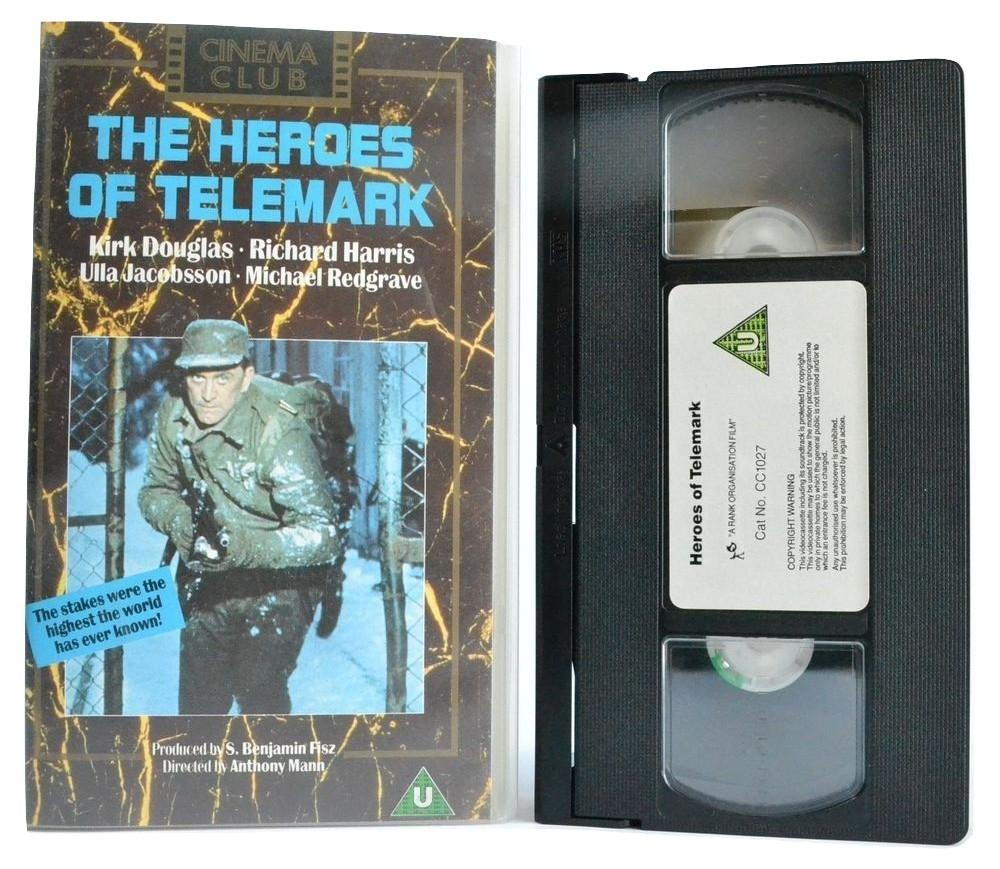 The Heroes Of Telemark: Kirk Douglas - Anthony Mann - Cinema Club (1989) VHS