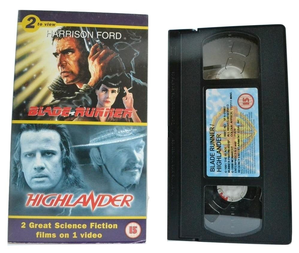 Blade Runner / Highlander - Double Sci-Fi Action - Harrison Ford [225 Minutes] VHS