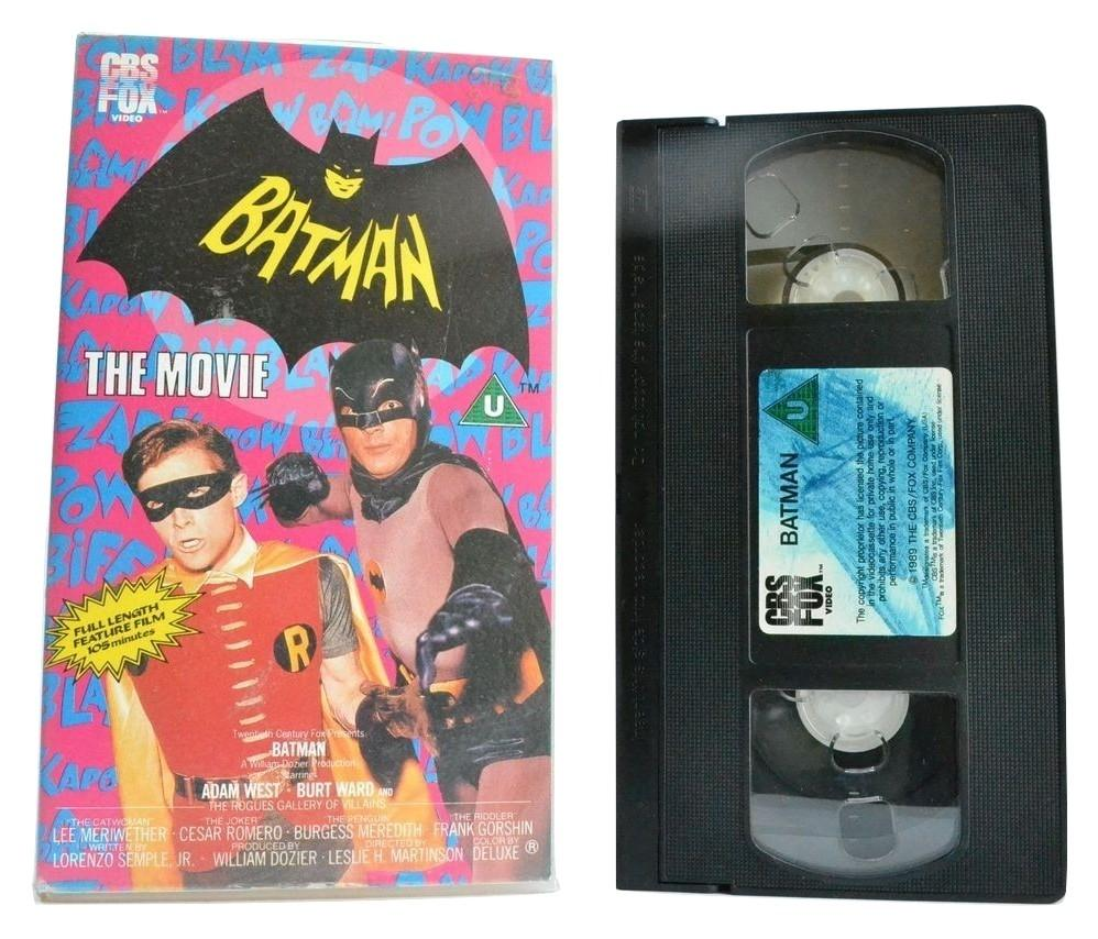 Batman: The Movie (1966) Adam West / Burt Ward - Bam/Pow/Zap - Comic - VHS