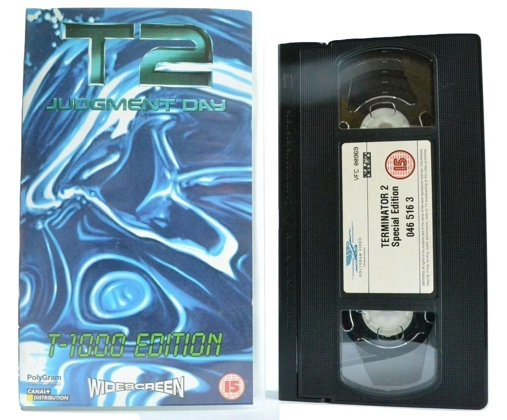 T2 Terminator 2: Judgement Day - Schwarzenegger Action [T-1000 Widescreen] VHS