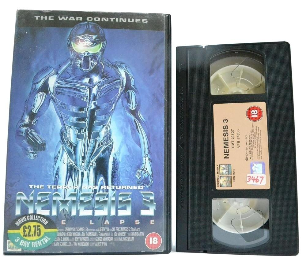 Nemesis 3: Time Lapse / Prey Harder [Mutant Warrior/Hungry Cyborgs] Large - OOP VHS