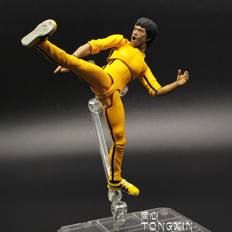 Bruce Lee Way of the Dragon Fist of Fury Yip Man Pupil Joint Movement Anime Action Figure 15cm