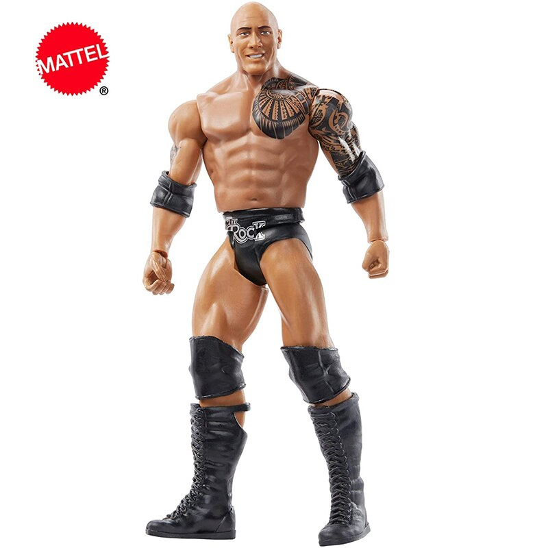 6 Inch Mattel WWE Super mobile Series The Rock Wrestlers Doll Action Figure Model Kids Toys Birthday Gift