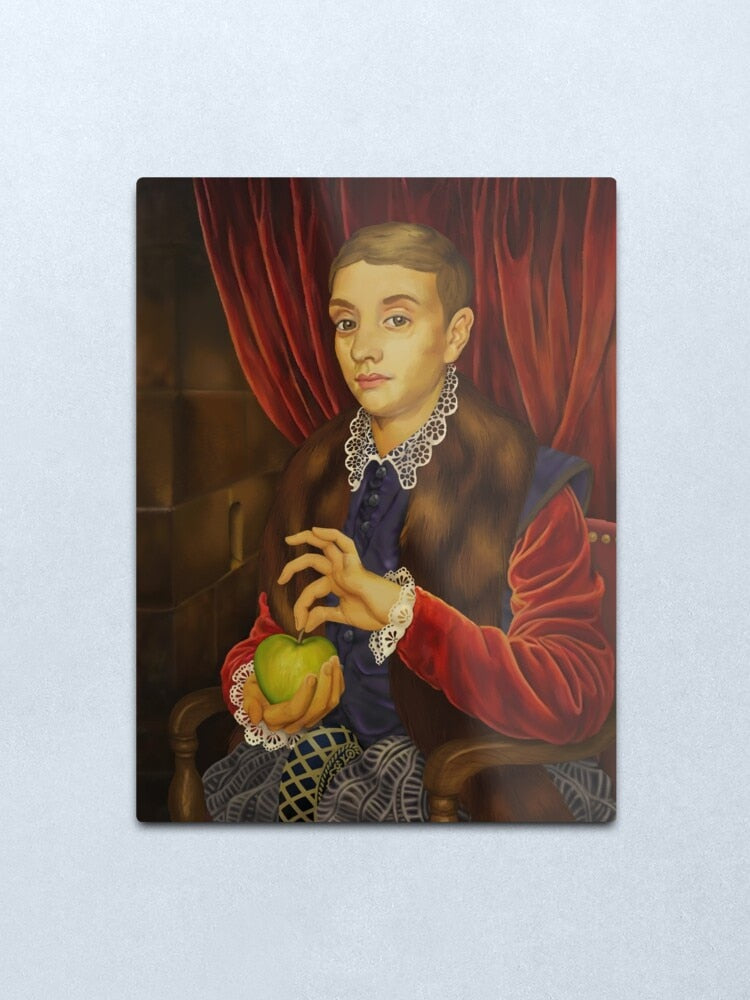 The Grand Budapest Hotel - Boy With Apple - Movie Prop Replica - Iconic Art by British artist Michael Taylor - Metal Print Wall Art - Home Cafe Decor