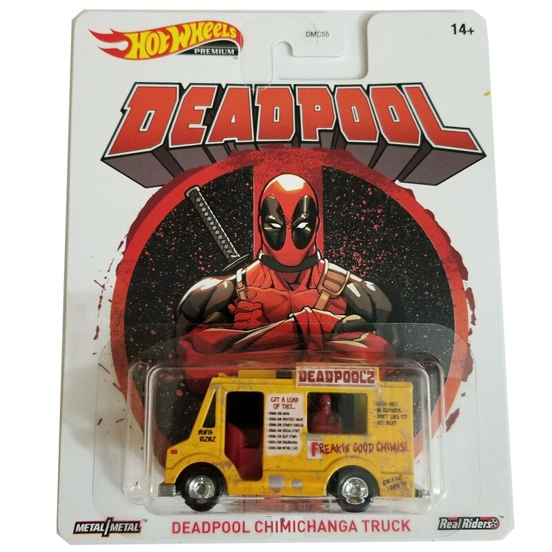 Hot Wheels 1/64 Car DEADPOOL CHIMICHANGA TRUCK Movie'Car Real Rides Metal Diecast Model Car
