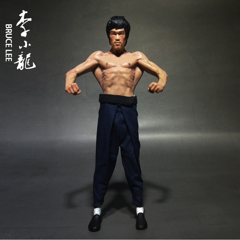 15cm Bruce Lee Way of the Dragon PVC Action Figure Statue Collection Model Toys with 2 Head