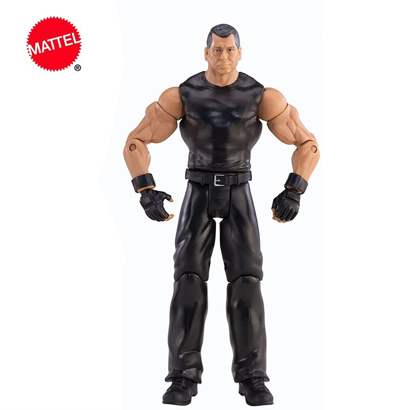 Mattel WWE Super Mobile Series Vince McMahon Wrestlers Doll 6 Inch Action Figure Model Kids Toys Birthday Gift
