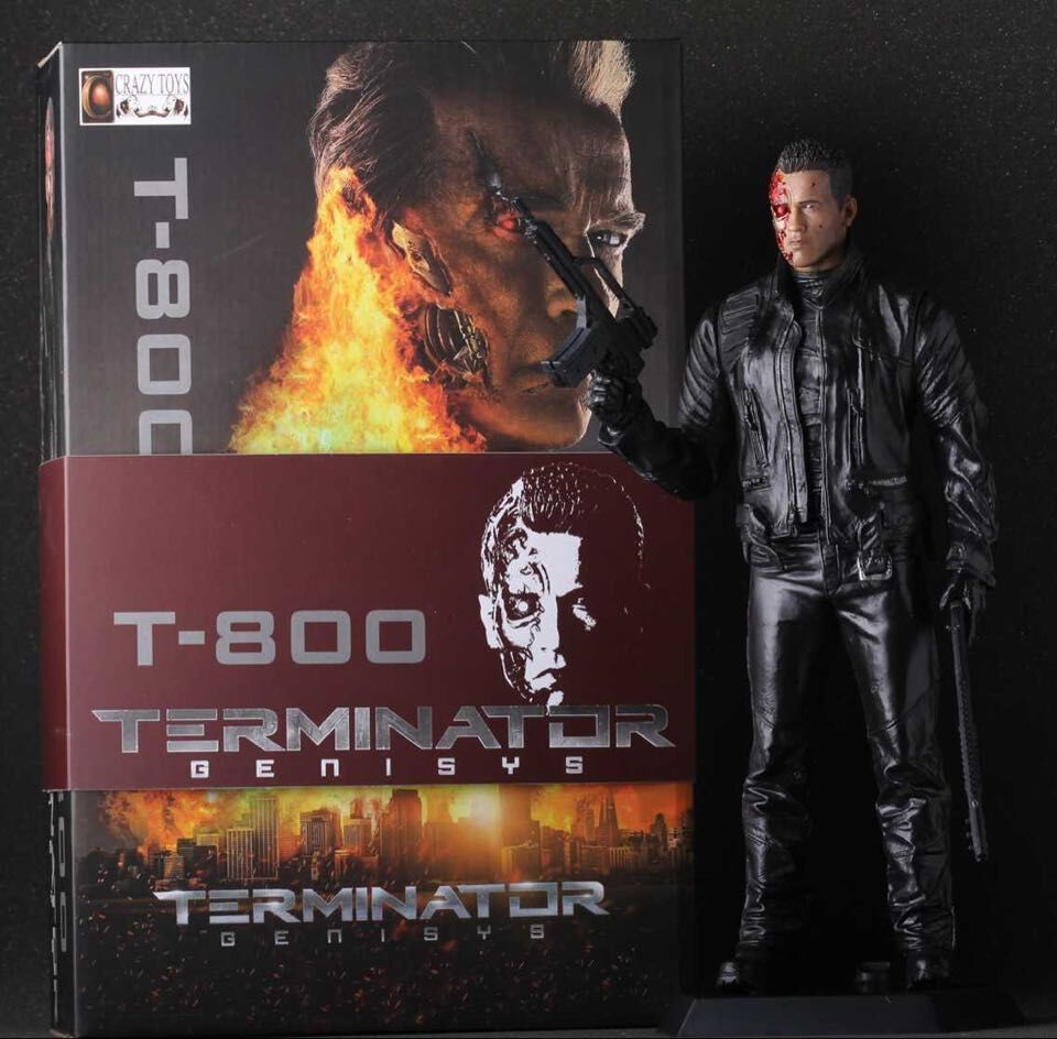 "New 13""33cm PVC American film Terminator T-800 Arnold Schwarzenegger doll Action Figure adult Model toy"
