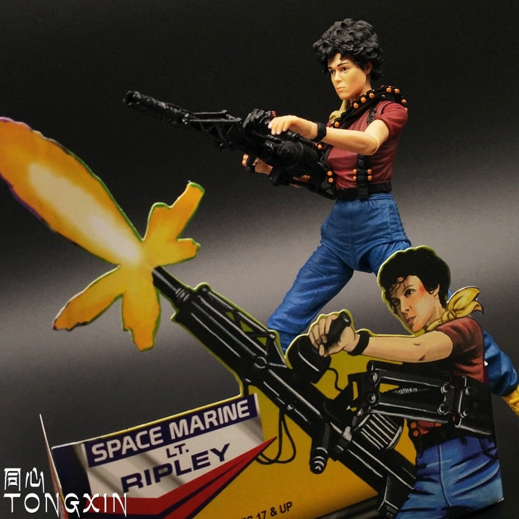 NECA Aliens 1 - Heavy Duty Ripley - Action Figure Collectible - Mobile Joints - For Multiple Postures