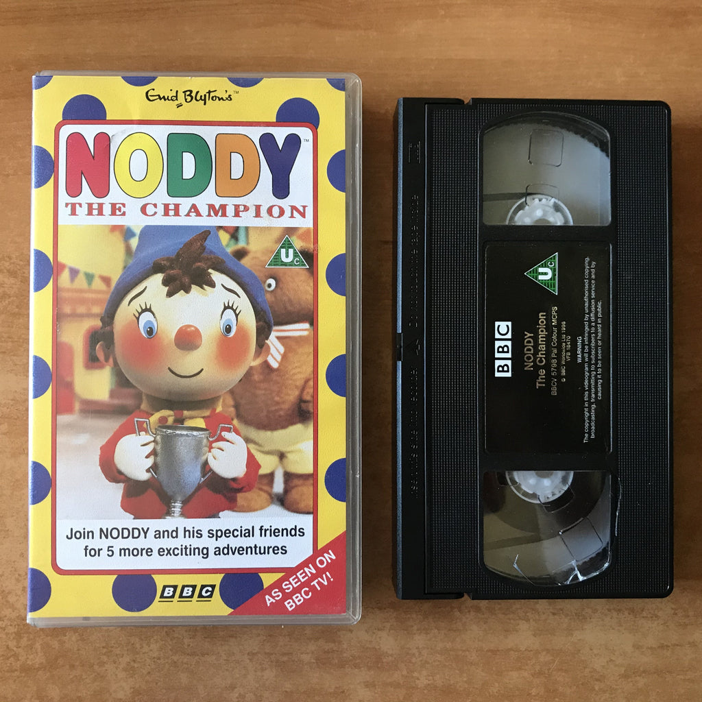 Noddy The Champion: Warm Scarf - Golden Tree - Unhappy Cat - Afternoon Off - Vhs