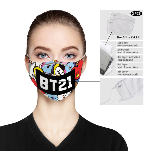 BT21 Cloth Face Mask