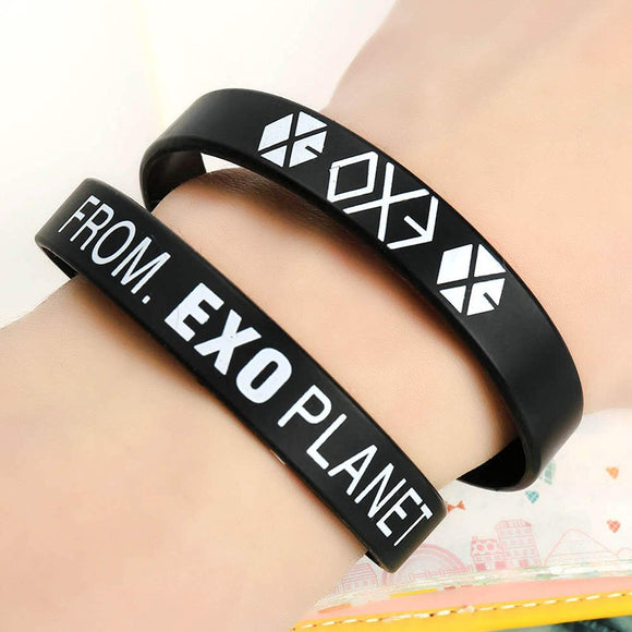 Black Rubber EXO Bracelet