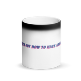 Rocky's Iconic Typo Matte Black Magic Mug