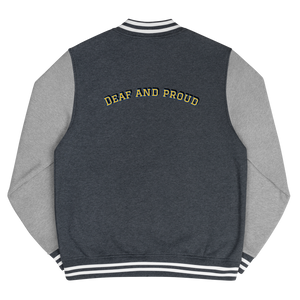Deaf And Proud Men's Letterman Jacket