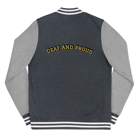 Deaf And Proud Women's Letterman Jacket