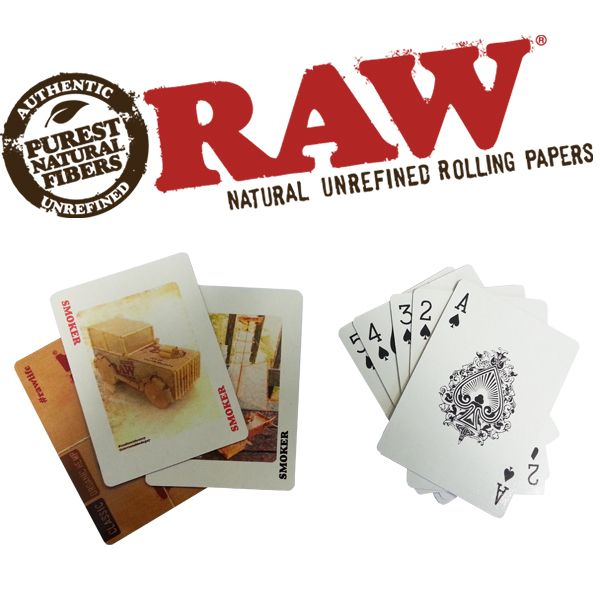 RAW Playing Cards - Bulldog420 Best Head Shop UK