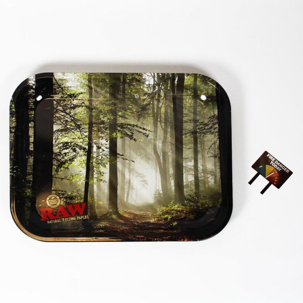 Raw Smokey Forest Rolling Tray | Small - Bulldog420 Best Head Shop UK
