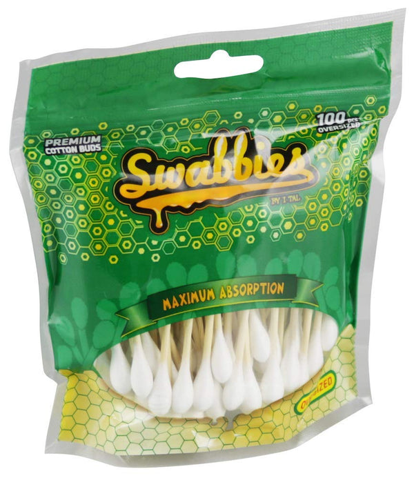 Swabbies Over-Sized Premium Cotton Buds Bag 100pc - Bulldog420 Best Head Shop UK