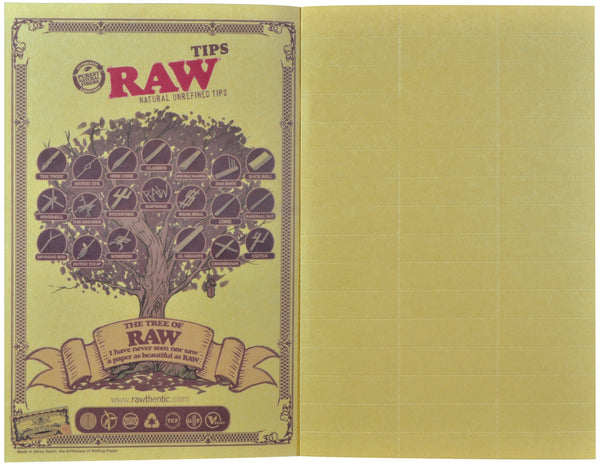 RAW Classic The RAWlbook 480 Natural Unrefined Tips - Bulldog420 Best Head Shop UK