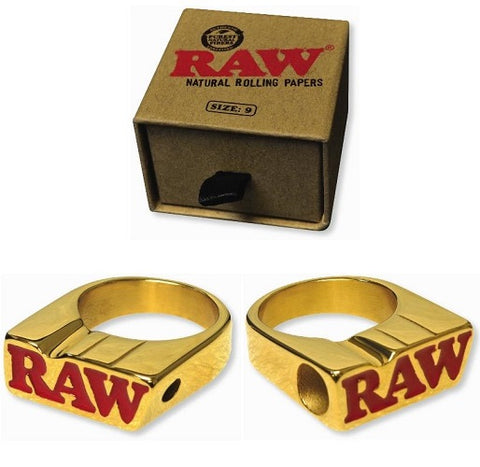 Raw Gold Smoking Rings - Bulldog420 Best Head Shop UK