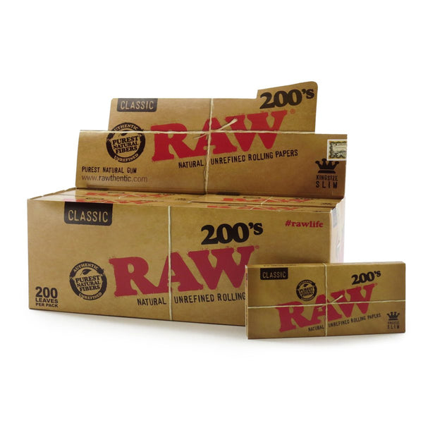 Box of Raw Natural 200's - Bulldog420 Best Head Shop UK