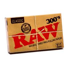 Box of Raw Natural 300's - Bulldog420 Best Head Shop UK