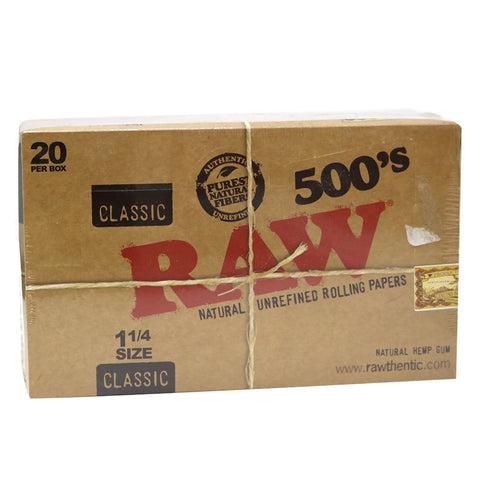 Box of Raw Natural 500's - Bulldog420 Best Head Shop UK