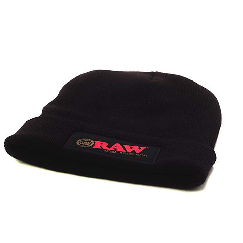 Raw Black Beanie - Bulldog420 Best Head Shop UK