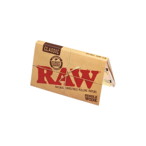 RAW Classic Single Wide Double Window Rolling Papers - Bulldog420 Best Head Shop UK