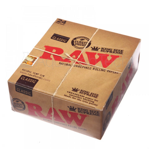 Box of Raw Kingsize Classics - Bulldog420 Best Head Shop UK