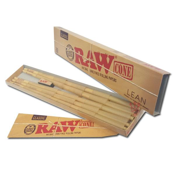 RAW Classic Lean Pre-Rolled Cone 110mm (40mm Tip) - Bulldog420 Best Head Shop UK