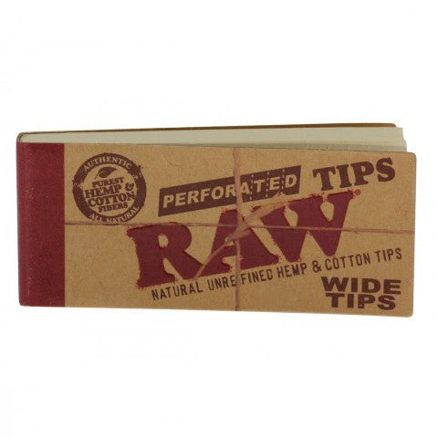 Raw Perforated wide tips - Bulldog420 Best Head Shop UK