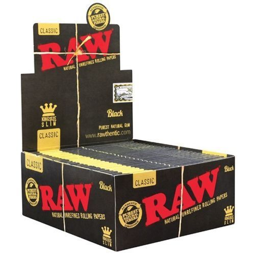 Box of Raw Black King Size Slims - Bulldog420 Best Head Shop UK