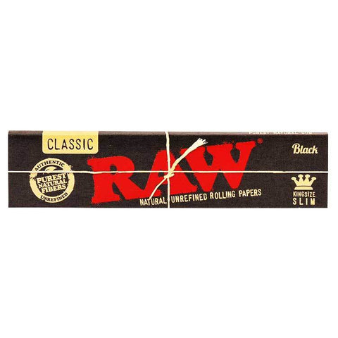 Raw Black King Size Slims - Bulldog420 Best Head Shop UK