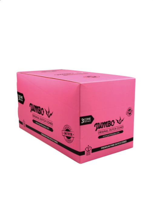 Jumbo Pink Pre-Rolled Dutch Cones - 3PK King Size