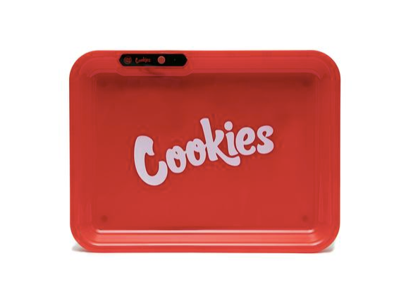 Cookies x Glow Tray (Red) Rolling Tray - Bulldog420 Best Head Shop UK