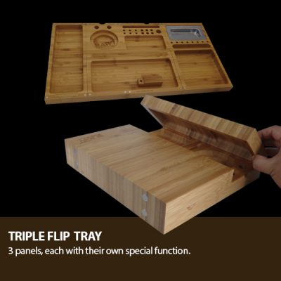 Raw Triple Flip tray ( Bamboo Tray) - Bulldog420 Best Head Shop UK