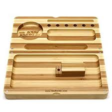 RAW Backflip Bamboo Stripped Rolling Tray with Magnet - Bulldog420 Best Head Shop UK