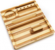 RAW Backflip Bamboo Stripped Rolling Tray with Magnet