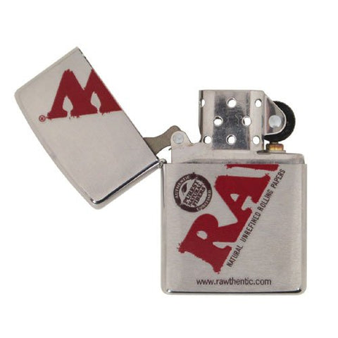 Raw Zippo Lighter Silver - Bulldog420 Best Head Shop UK