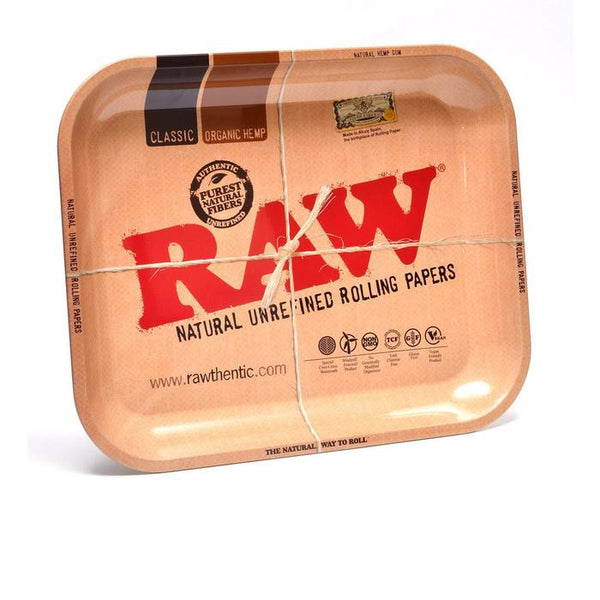 Raw Metal Rolling Tray | Medium - Bulldog420 Best Head Shop UK