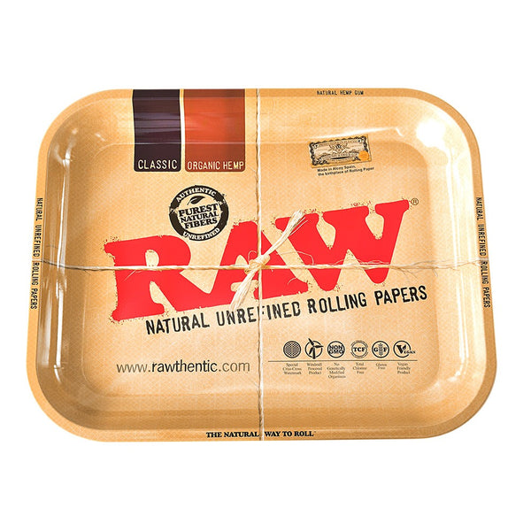 Raw Metal Rolling Tray | Small - Bulldog420 Best Head Shop UK